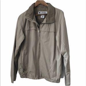 Columbia Light Weight Tan Fall Full Zip Jacket